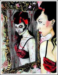 Die Die my Darling (Caressa_sparkle) Tags: girl painting scary rainbow punk paint die zombie ghost horror darling misfits