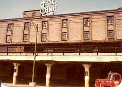 The old steam era Soo Line Railroad freight house at West Roosevelt Road and South Canal Street. ( Gone / Demolished.) Chicago Illinois. Circa early 1980's?