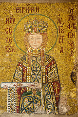 Irene of Hungary (Viajante) Tags: art church wall turkey mosaic istanbul christian empress christianity orthodox byzantine tr ireneofhungary