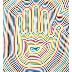 amulet :: series HAMSA (r.o.M.a.n) Tags: life color colour reflection art texture love colors modern pencil paper creativity visions design artwork energy colorful artist colours power symbol drawing spirit decorative magic faith fineart australian dream fantasy fate protective psychedelic magical protection shaman amulet deepness shamanism