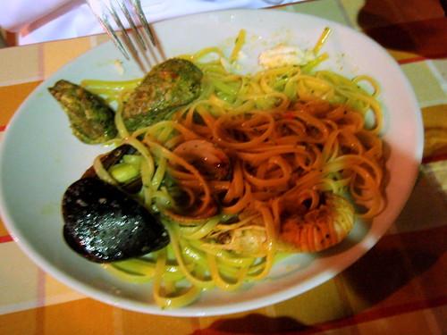 Seafood pasta (bavette)