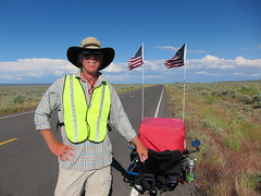 Ray Brown walking across the country