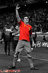 David Villa - 2010 FIFA World Cup (LizNN7) Tags: world barcelona africa red espaa white david black cup football spain espanha do fussball time fifa soccer south weltmeisterschaft wm finals villa mundial futbol mundo copa futebol sdafrika sul equipe futbal fotball ftbol voetbal fodbold 2010 weltmeister nationalteam espaol potugal eighth footballer sudafrica colorkey frica futbolista  jalkapallo seleo furia jalgpall nationalmannschaft port fussballer fussballspieler zil ftbolista jalkapalloilija liznn7