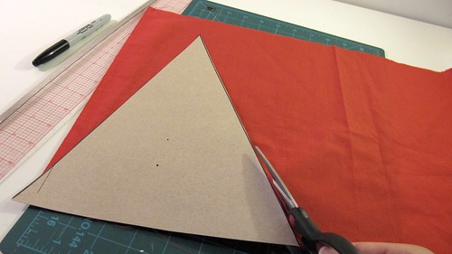 2a. DIY Project: Canada Day Pennant Bunting: Cut Out Triangle Pennant Template
