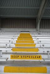 keep steps clear (pamelakliment) Tags: signs stairs steps bleachers kliment pamelakliment