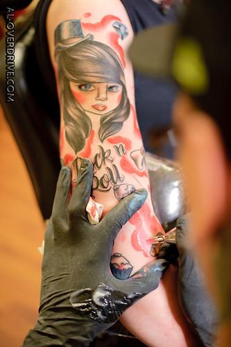 kat williams rock n roll bride tattooed at blood brothers