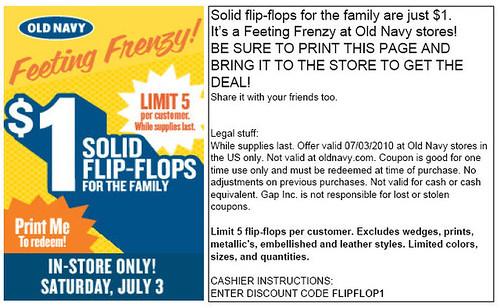 flip flop coupon