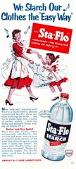 """This Is the Way We Starch our Clothes..."" (saltycotton) Tags: vintage magazine children ad mother apron advertisement laundry 1950s housewife 1953 starch goodhousekeeping staflo"
