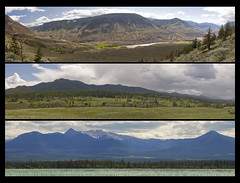 Chilcotin Summer (showbizinbc) Tags: panorama triptych bc britishcolumbia canyon fraserriver cariboo chilcotin cowboycountry fraserriverbasin