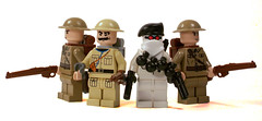 British Army (*Nobodycares*) Tags: lego wwii tommy worldwarii ww2 soldiers guns british worldwar2 commando allies uas sheath allied brickarms brickforge mmcb weirdwarii weirdwar2