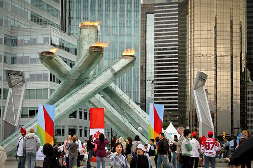 Canada Day - torch reignited