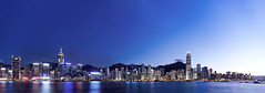 typical hong kong night scene (songallery) Tags: ocean blue light sunset sea urban panorama skyline night digital skyscraper spectacular landscape geotagged hongkong harbor landscapes scenery cityscape central wide grand scene glorious sight  brilliant   impressive magichour imposing victoriaharbour cambo      p45  phaseone digitalback 39megapixels highresolutions cambowideds