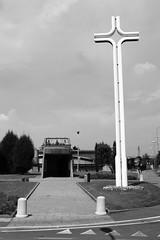 (...uno che passava... (senza ombrello)) Tags: bw italy church bn chiesa bncitt zingonia verdellino