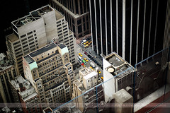 Cars, New York, New York (Seven Seconds Before Sunrise) Tags: street city nyc newyorkcity newyork car architecture 50mm traffic unitedstates manhattan aerial topoftherock 30rockefellercenter