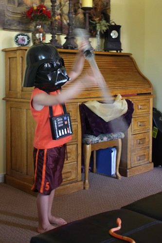 4 year old Darth skills