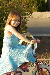 Kyra on her Bike