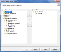 Crystal Reports  Pic 4 - Select Data Tables