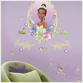 Princess and the Frog Medallion - Giant Princess Wall Stickers