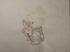 Boy with bunny finished