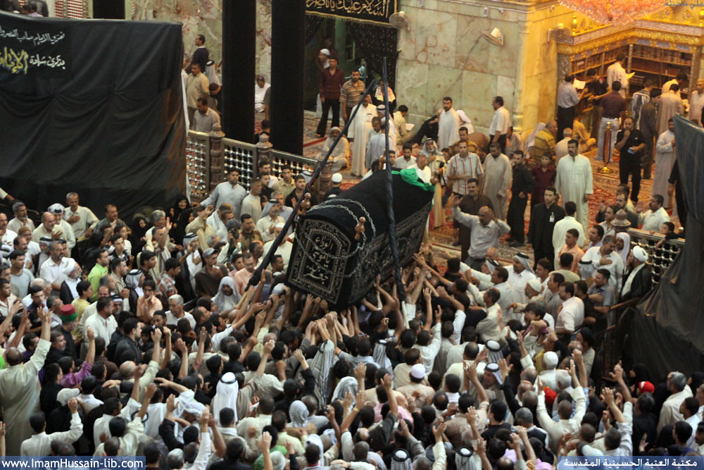 ألا من أراد أن يحضر جنازة الطاهر ابن الطاهر موسى بن جعفر عليه السلام فليحضر
