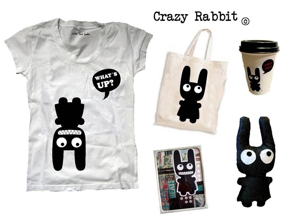concept crazy rabbit