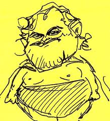 digital sketch study of Jack Black - 4