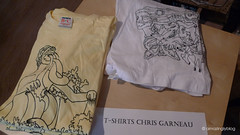 Nice T-shirts of Chris Garneau(US) at Fargo Store, Paris