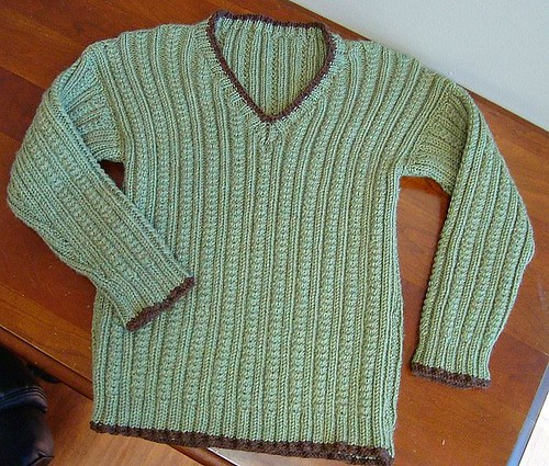 Boy's Cabled Sweater