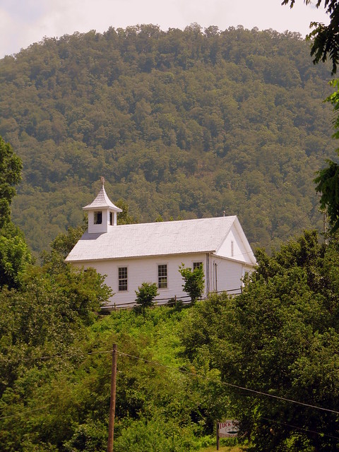 Church halfway up the hill