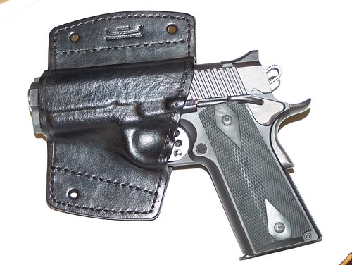 Kimber 1911 in holster
