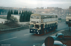 Smoky start to the day (Lady Wulfrun) Tags: road city november roof bus buses birmingham traffic centre pickup wm service 1800 british coop morrisminor roads 1970s 1976 queensway leyland parkroyal bct mcw cooperative 3313 bl constitutionhill snowhill landcrab transpot snowhillstation astoncross wmpte kharki colmorecircus snowhillrailwaystation 313gon stopatthecoop 11thnovember1976