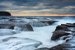 Waves and Waterfalls (-yury-) Tags: ocean sea seascape water sunrise landscape waterfall rocks north sydney wave australia nsw narrabeen supershot abigfave