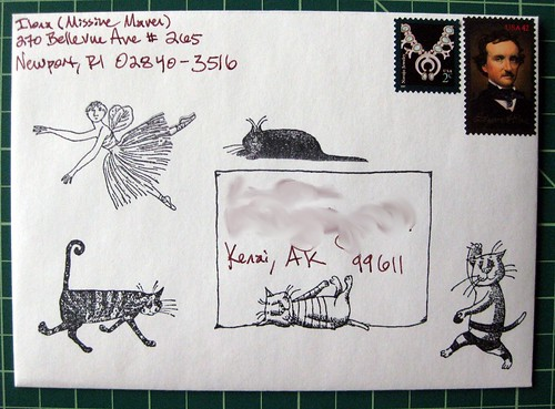 Gorey-stamped envelope
