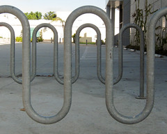 IMG_8431_bike-racks (parlance) Tags: california abstract bike bicycle losangeles pattern rack racks parlance canonpowershots90 canons90 fadedblurred3652010 santamonicacommnitycollege