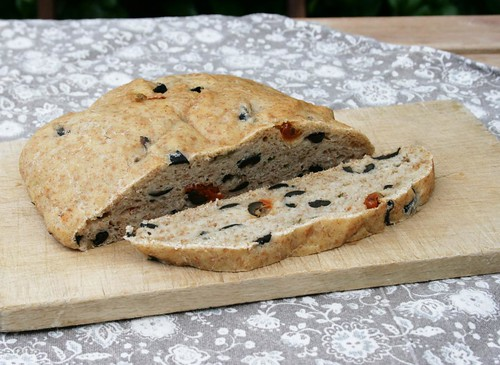 rosemary bread with olives and sundried tomatoes
