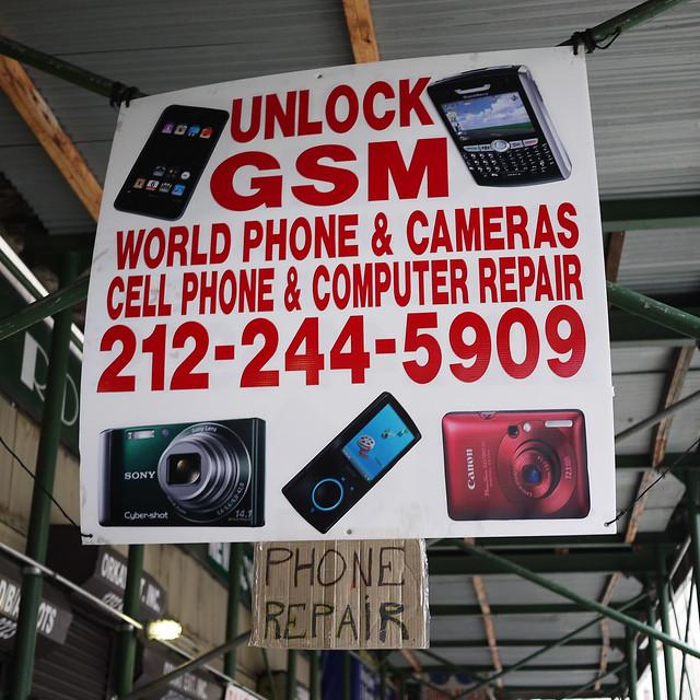 Phone Repair on Broadway #walkingtoworktoday