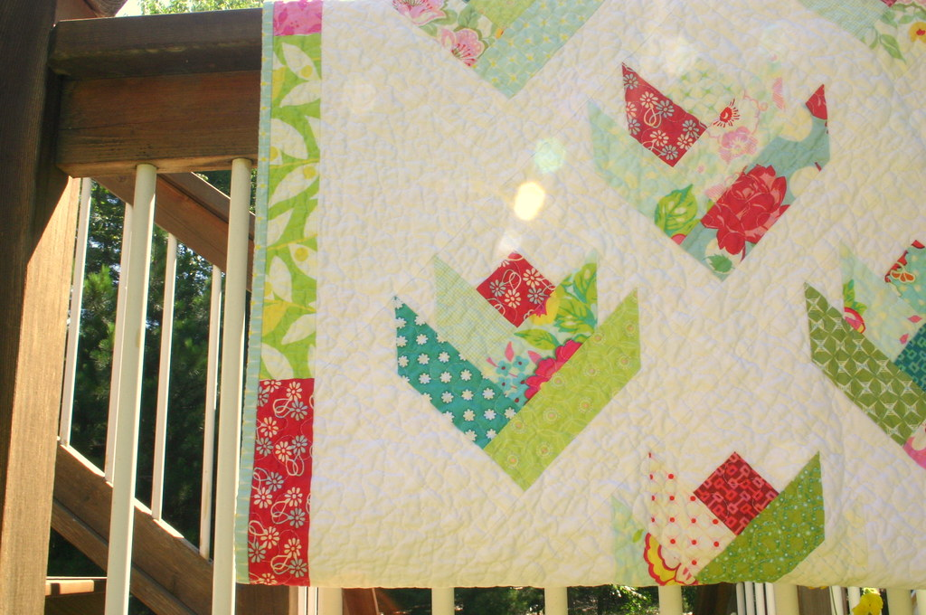 Floral Bouquet Quilt - detail
