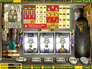 King Tut's Treasure slot game online review