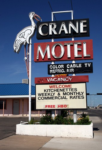 crane motel neon sign