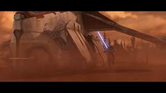 gunship landing (legogeneral217) Tags: star wars clone gunship legogeneral217