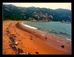 Hong Kong's version of Abel Tasman!! (skybluetara) Tags: travel sea tourism beach hongkong garbage pollution rubbish lonelyplanet lammaisland abletasman orangesand oceran