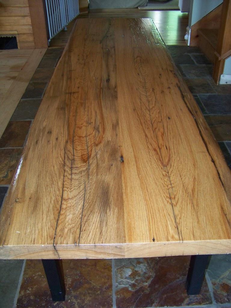 Reclaimed Pine Wood Coffee Table Long side