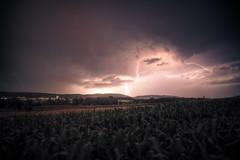 Lightning over Affoltern (dmkdmkdmk) Tags: nature night landscape evening nikon lightning hdr blitze