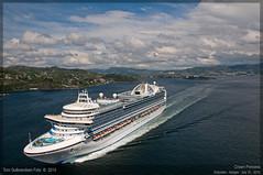 Crown Princess (Aviation & Maritime) Tags: norway cruiseship bergen cruiseships princesscruises crownprincess arealview cruisesesongen2010