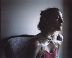 - (alexis mire) Tags: pink ballet mamiya girl mediumformat chair ribbon rb67 400speed