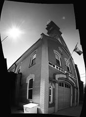 No.8 Hose Station ~ Kensington Firestation #315 (Sally E J Hunter) Tags: toronto tower blackwhite stitch noiretblanc firestation firehall moo1 heritageproperty topwkm