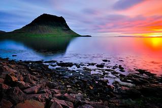 Midnight sun at Grundarfjörður, Snæfellsnes