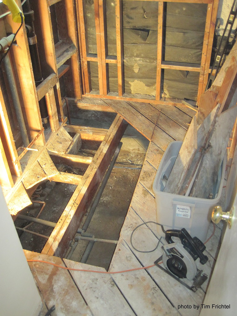Subfloor repairs subfloor concrete flooring contractors for Bathroom floor repair contractor