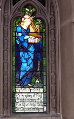 St. Cecilia -- Edward Burne Jones window at Historic Second Church, Chicago (yooperann) Tags: chicago art church glass studio jones movement william historic stained 2nd edward morris presbyterian preraphaelite artsandcrafts burne