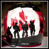 DSC01471 - Freedom is Never Free (Richard Wintle) Tags: toronto ontario canada honda helmet indy nascar canadiantire armedforces paddock canadianarmedforces exhibitionplace directenergycentre canadianheroes